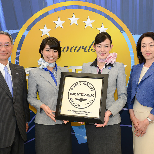 """ANA RICEVE I PREMI """"WORLD'S BEST AIRPORT SERVICES"""" E  """"BEST AIRLINE STAFF IN ASIA"""" AGLI SKYTRAX WORLD AIRLINE AWARDS"""