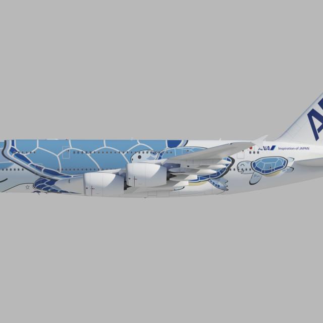 """ANA PRESENTA """"FLYING HONU"""", ICONICA LIVREA PER IL NUOVO A380"""