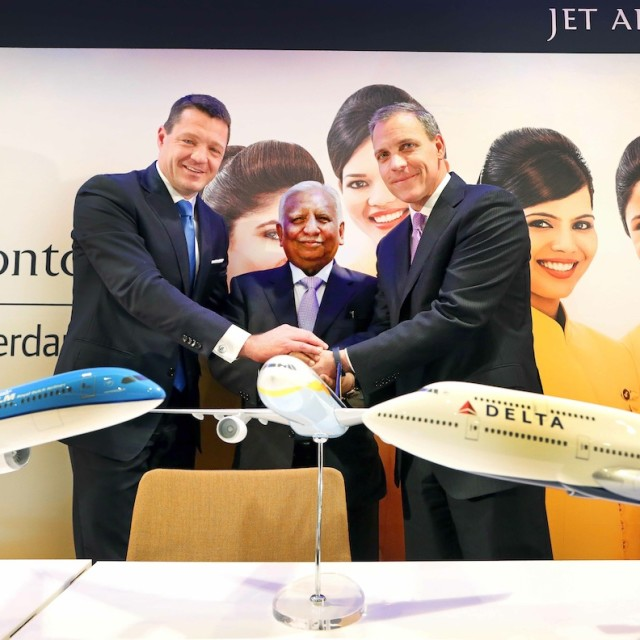 DELTA SIGLA UN ACCORDO DI CODESHARE CON JET AIRWAYS E KLM
