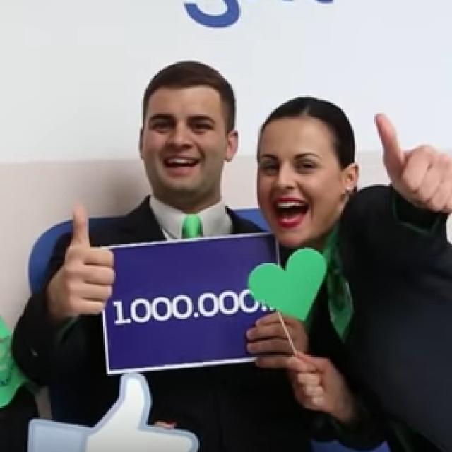 UN MILIONE DI FAN SU FACEBOOK PER TRANSAVIA