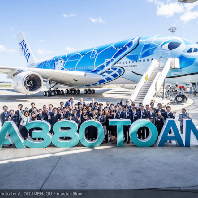 ANA RICEVE DA AIRBUS IL SUO PRIMO A380